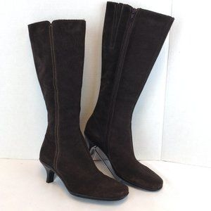 La Canadienne Knee High Brown Suede Winter Boots